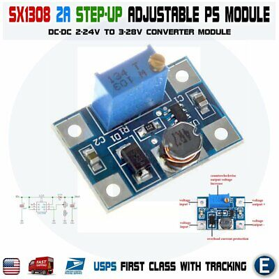 Sx1308 Step-up 2-24v To 3-28v 2a Dc-dc Boost Adjustable Power Converter Module