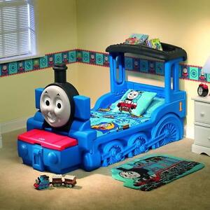 Thomas The Train Bed for Toddlers.  This one is in perfect condition. Comes with mattress and Bedding.