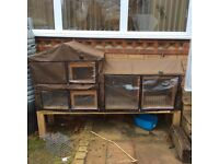 Used 6ft Rabbit Hutch and cover