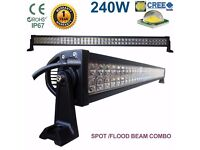 "240W 42"" CREE LED Light Bar SpotFlood Comb Work Lamp 4WD SUV Boat Recovery Pickup Truck Lorry Crane"