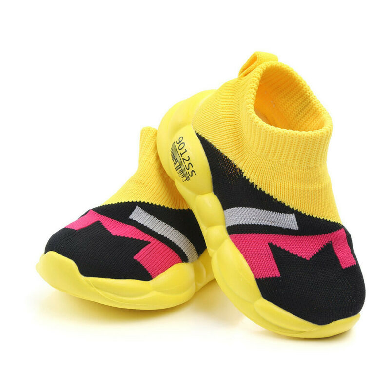 Toddler Infant Girls Boys Sole Sport Sneakers