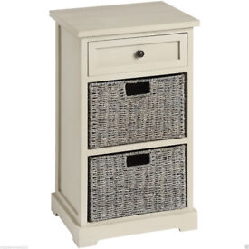 NEW Wooden Grey Wash Cabinet With Drawer