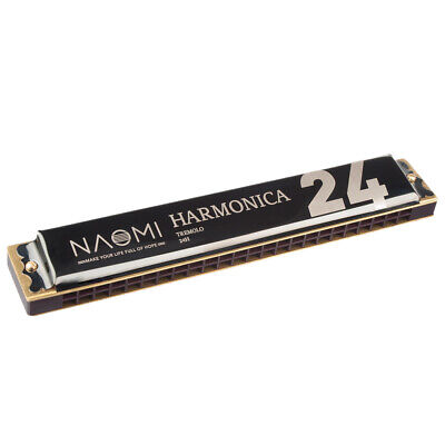 24 Holes Key of C Tremolo Harmonica Mouth Organ Best Choice for