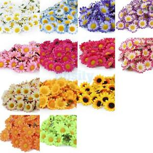 100x-Gerbera-Daisy-Head-Artificial-Silk-Flower-Wedding-Craft-1-5-Assorted-Color