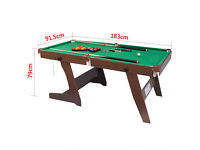 HLC 6FT Folding Billiards Snooker/Pool Table With Balls And Other Accessories