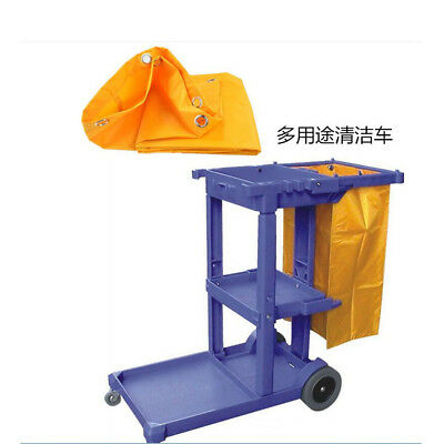 Cleaning Storage Bag For Commercial Housekeeping Cart Janitorial Cart Yellow