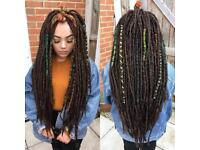 Synthetic and Natural Dreadlock Extensions and Installation in the North East.