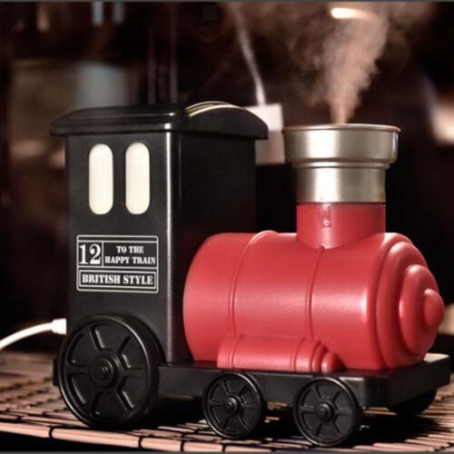 Modern Train Household Ultrasonic Aroma Diffuser USB Air Humidifier Red