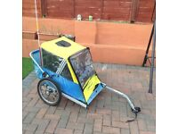 Fold up bicycle trailer
