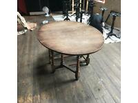 Vintage old wooden folding table in good nic, just needs a good wax