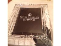 Royal doulton Austria fine lead crystal photo size 7x5 £10 can deliver if you live local