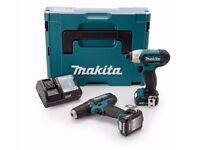 Makita CLX201AJ 10.8v CXT 2 Piece Kit with 2 x 2.0Ah Batteries, Charger in a Makpac case.. BRAND NEW