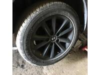 Bmw 16 alloy wheels & tyres x4