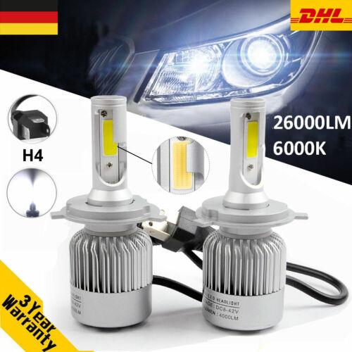 2PCS H4 110W Glühbirne Kit Auto Scheinwerfer Birnen LED Lampen 26000LM 6000K