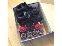 Roller Derby Skates, Riedell, R3, BLACK, SIZE 6, in excellent condition