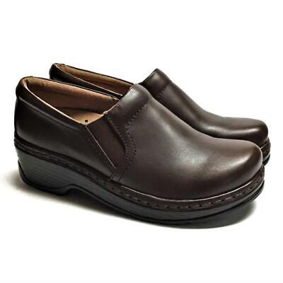 NEW Klogs Napels Women 8 M Closed Back Clogs Brown Smooth Leather Slip On