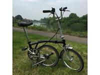Brompton M3L folding bike great condition completely original parts