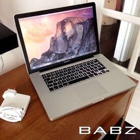 Apple Macbook Pro 15 - Intel i7 Quad 2.2Ghz - 320GB HD/4GB Ram - Adobe CS6/Final Cut/Logic Pro X