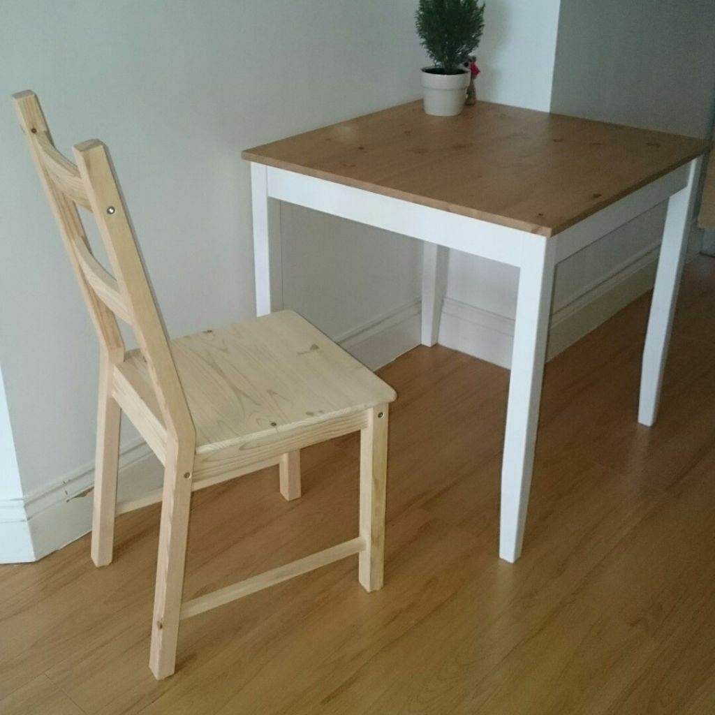 Ikea lerhamn table 74 74cm and one chair in aldgate for Dining table table and chairs