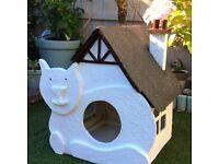 Unique Handmade Outdoor Wooden Cat house