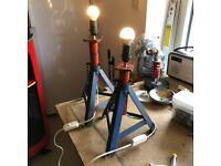 Retro axle stands lamps