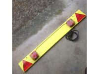 Trailer board with lights - 4ft