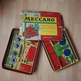 Two Vintage 1960s Meccano Sets