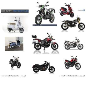 NEW AND PRE-REG SCOOTERS AND MOTORCYCLES FROM £1299 GREAT CHOICE -HONDA-YAMAHA-SINNIS-LEXMOTO -KIDEN