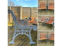 Cast Iron Pair Of Garden & Patio Chairs