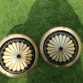 Circular antique lampshades