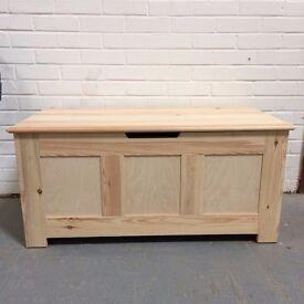 Handmade solid pine bed box / blanket box / storage box