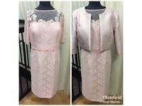 Pink mother of the bride outfit size 14 by zeila