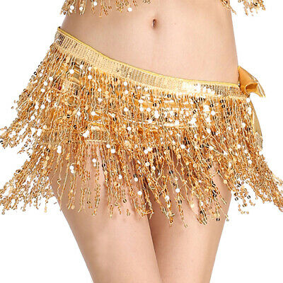 Women's Belly Dance Hip Scarf Performance Outfits Skirt Festival Clothing ()