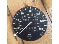 GENUINE BMW E30 SPEEDO UNIT OUT OF CLUSTER SPARES OR REPAIRS