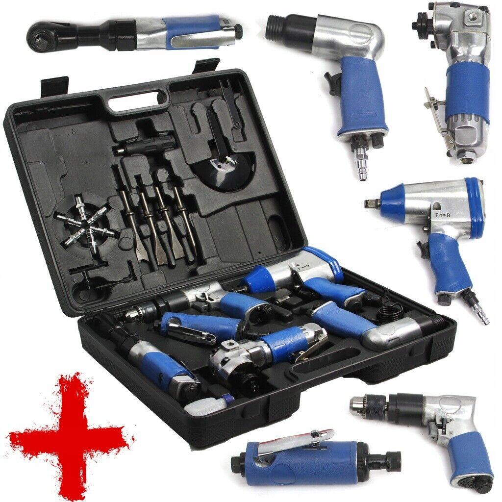 Druckluft Geräte Werkzeug Druckluftgeräte 20tlg Schlagschrauber Winkelschleifer