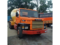 Left hand drive Scania 112H 320 HP Turbo 6X4 10 tyres 36 Ton CIFA 12 m3 concrete mixer.