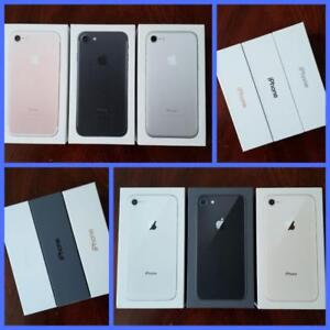 Brand New iPhone 7 32GB($499)/iPhone 8 64GB($699), Unlocked, 1 Year Apple Warranty! Rogers/Telus/Bell/Freedom/Internatio