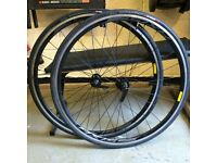 1 x Pair Axis 1.0 Specialized Road Bike Wheels [Unused] & Specialized All Condition 700 x 23c Tyres