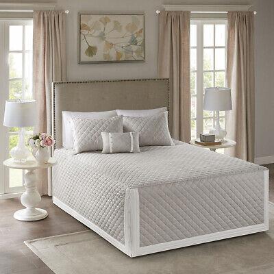Madison Park Breanna 4 Piece Cotton Reversible Tailored Beds