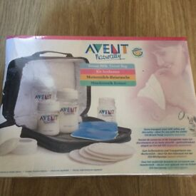 BNIB Avent Breast Milk Travel Bag. Breast pump. 4 Bottle Microwave Steam Steriliser