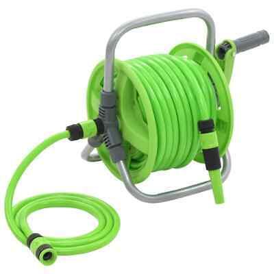 Water Hose Reel 20+2m Garden Storage Organisation Supply Equipment Green New