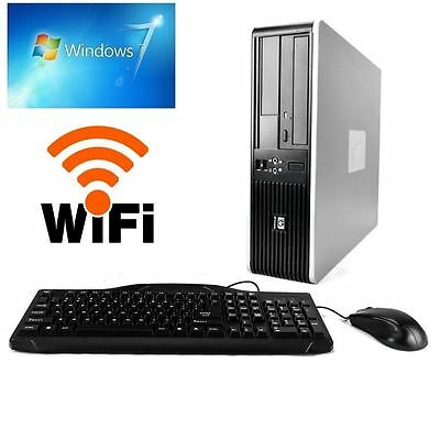 HP AMD 2.0GHZ DESKTOP COMPUTER PC 4GB RAM, 80GB HDD, WINDOWS 7 PRO WiFi