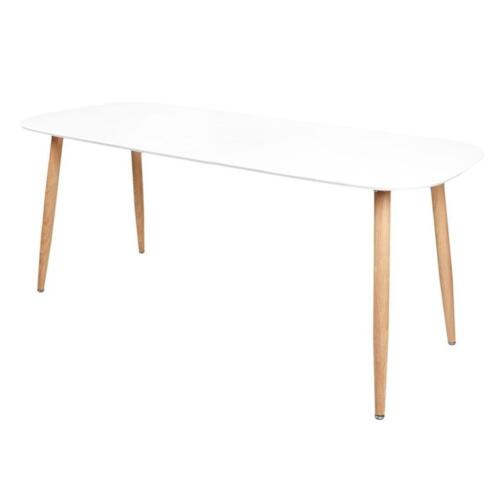 Uitschuifbare Eettafel 160 Cm.Uitschuifbare Eettafel Helena 140 160 180 X 80 X 75 Cm Tafels