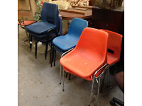 Selection of polyprop chairs available