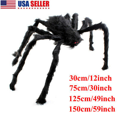 Mega Huge Giant Large Outdoor Yard Spooky Spider Halloween Party Decor 30-150cm - Large Outdoor Halloween Spiders