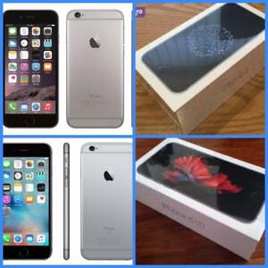 Brand New Apple iPhone 6S ($500) and iPhone 6 ($400) 32GB Grey, Bell/Virgin + 1 Yr Apple Wrnty!! Can be unlocked for $25