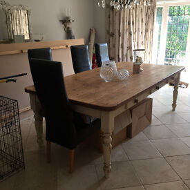 Beautiful Farmhouse style dining table and sideboard