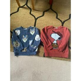 Boys H&M jumpers