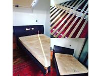 Double bed for sale with/without mattress