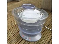 Tefal Steam Cuisine 3-tier vitamin plus timed steamer with rice cooker
